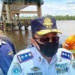 Sidak Aparat Setelah Jembatan Dondang Kukar Ditabrak Tongkang