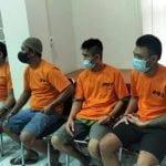Ini Reaksi Para Tersangka Saat Melihat Pemusnahan Sabu di Polresta Samarinda